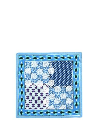 Eton Eton  Geometrik Desenli İpek Poşet Mendil 101612269 Renkli